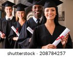 ready to success. four college... | Shutterstock . vector #208784257