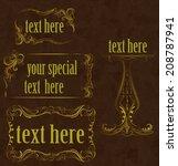 frame set  in luxury style | Shutterstock .eps vector #208787941