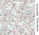 seamless floral pattern  | Shutterstock .eps vector #208790179