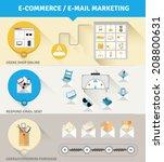 set of flat e commerce design... | Shutterstock .eps vector #208800631