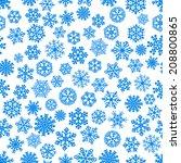 christmas seamless pattern of... | Shutterstock .eps vector #208800865