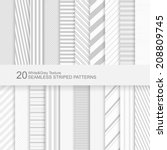 20 Seamless Striped Vector...