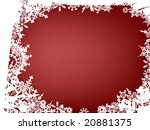 winter themed card with snow... | Shutterstock .eps vector #20881375