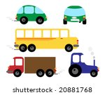 set of vehicles   car  bus ... | Shutterstock .eps vector #20881768