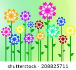 colorful flowers background... | Shutterstock . vector #208825711