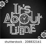 chalkboard design vector | Shutterstock .eps vector #208832161