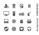 computer pc icon set  each icon ... | Shutterstock .eps vector #208838485