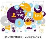 social media concept | Shutterstock .eps vector #208841491