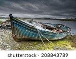 Weathered Fishing Boat Lying O...