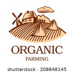 organic farming illustrations ... | Shutterstock .eps vector #208848145