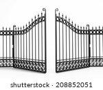 Black Iron Gate Isolated On...