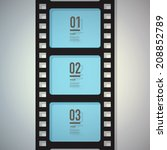 film strip design with your... | Shutterstock .eps vector #208852789