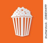 popcorn symbol vector | Shutterstock .eps vector #208854499