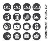 finance icons set | Shutterstock .eps vector #208857169