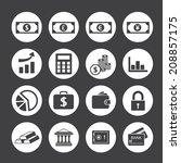 finance icons set | Shutterstock .eps vector #208857175