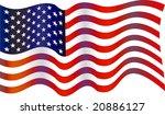 usa flag | Shutterstock . vector #20886127