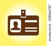 identification card icon. flat... | Shutterstock .eps vector #208866787