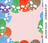 vector seamless pattern with... | Shutterstock .eps vector #208866919