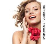 portrait of attractive ... | Shutterstock . vector #208868281