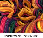 abstract wavy rainbow lines... | Shutterstock . vector #208868401