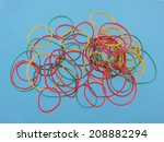 close up of colourful rubber... | Shutterstock . vector #208882294