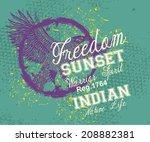 wild eagle freedom vector art | Shutterstock .eps vector #208882381