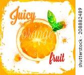 orange vector juicy patterns of ... | Shutterstock .eps vector #208882489