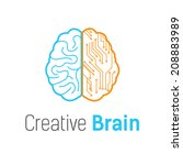 brain vector logo design... | Shutterstock .eps vector #208883989