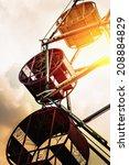 Vintage Retro Ferris Wheel At...