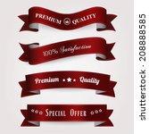 set of retro vintage labels. | Shutterstock .eps vector #208888585