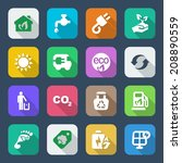 set of icons for ecology and...   Shutterstock .eps vector #208890559