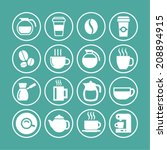 coffee shop icons | Shutterstock .eps vector #208894915