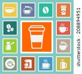 coffee vector icons | Shutterstock .eps vector #208894951