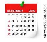 december 2015   calendar   Shutterstock . vector #208895821