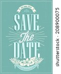 save the date wedding... | Shutterstock .eps vector #208900075