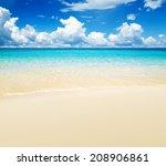 beach and tropical sea | Shutterstock . vector #208906861