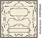 ornate art set is on white   Shutterstock .eps vector #208908664
