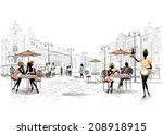 series of the streets with... | Shutterstock .eps vector #208918915
