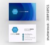 business card design template...   Shutterstock .eps vector #208918921