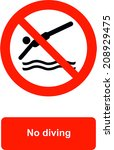 no diving | Shutterstock .eps vector #208929475