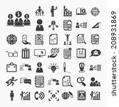 business icons and finance... | Shutterstock .eps vector #208931869