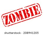 zombie red stamp text on white