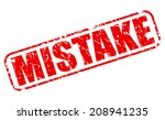 mistake red stamp text on white | Shutterstock .eps vector #208941235