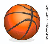 basketball ball isolated on a... | Shutterstock . vector #208946824