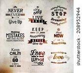 inspirational and encouraging...   Shutterstock .eps vector #208952944
