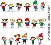 kids | Shutterstock .eps vector #208954294