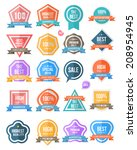 badge set colour. for... | Shutterstock .eps vector #208954945