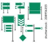 green traffic signs | Shutterstock .eps vector #208956355