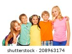 waist up photo of five funny... | Shutterstock . vector #208963174