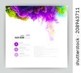 vector abstract cloud. ink... | Shutterstock .eps vector #208963711